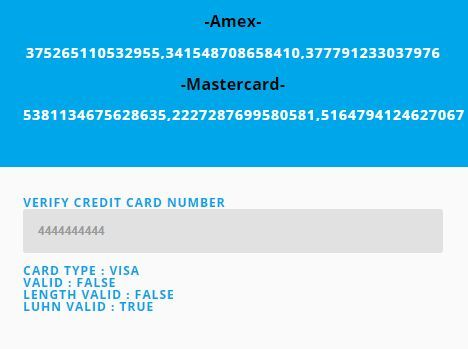 ValidMYCard is a Credit Card Generator & Validator built with jQuery that generates random…