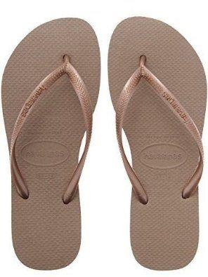 f6e1ada2f3a90d Havaianas Ladies Flip Flops Slim Beach Sandals All Size Black