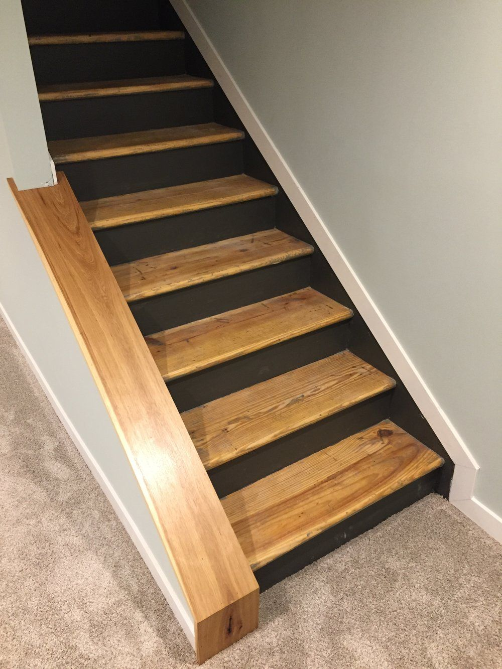 Staircase Remodel   DIY Basement Stair Transformation
