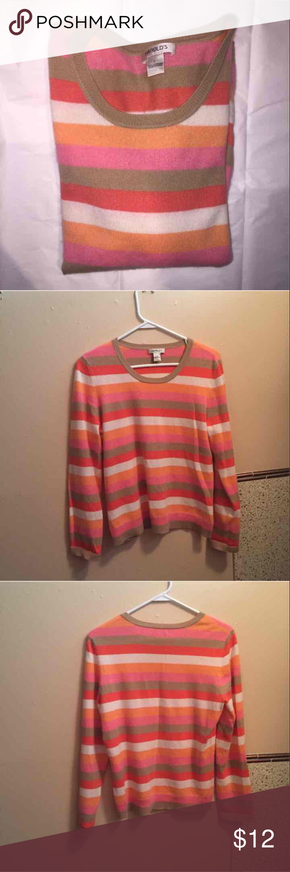 Harold's 100% cashmere sweater large L Selling for my friend who ...