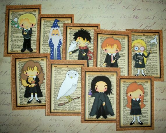 HARRY POTTER - Your choice of Gift Tags, Stickers, or Cards - Set of 9 - HPGTC 776575