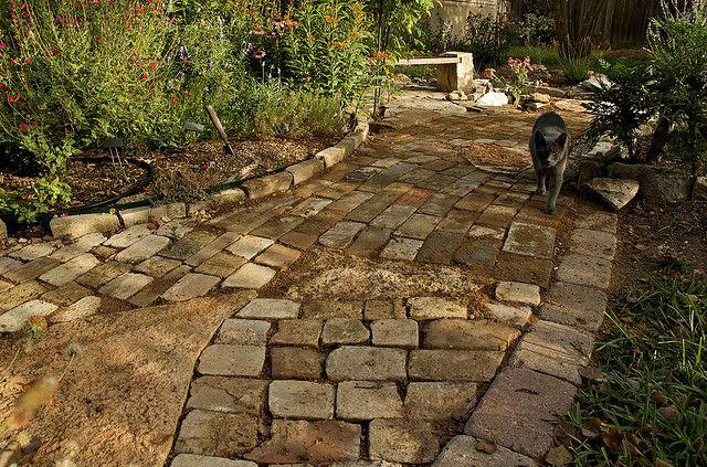 Finished Brick Path Brick Path Walkways Paths Garden Styles