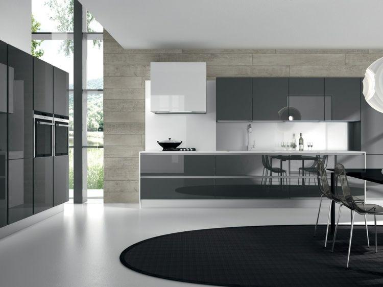 Cuisine Grise Moderne Astuces Et Idées Déco Pour La Cusine - Idee deco cuisine grise pour idees de deco de cuisine