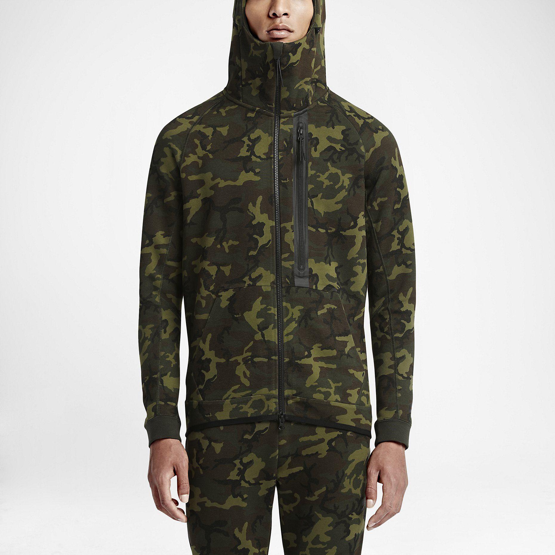 nike fleece hoodie brown