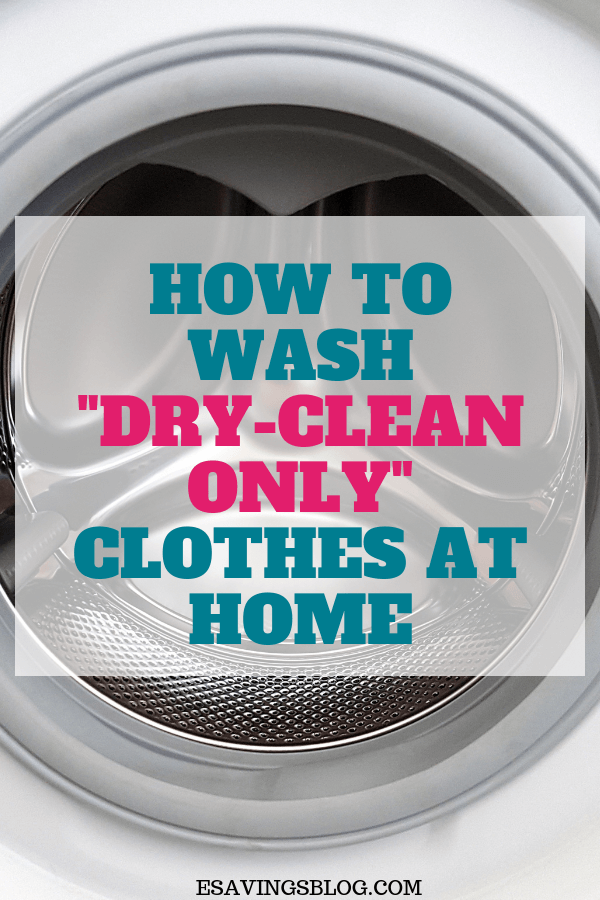 How To Wash Dry Clean Only Clothes At Home Cleaning Hacks Dry Wash Clean Dishwasher