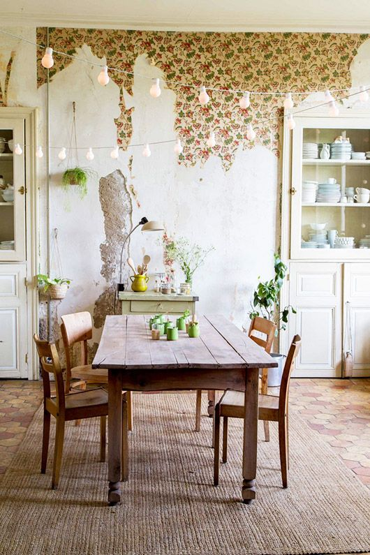 dining room rustic eclectic ideas wallpaper ideas bring outdoor ...