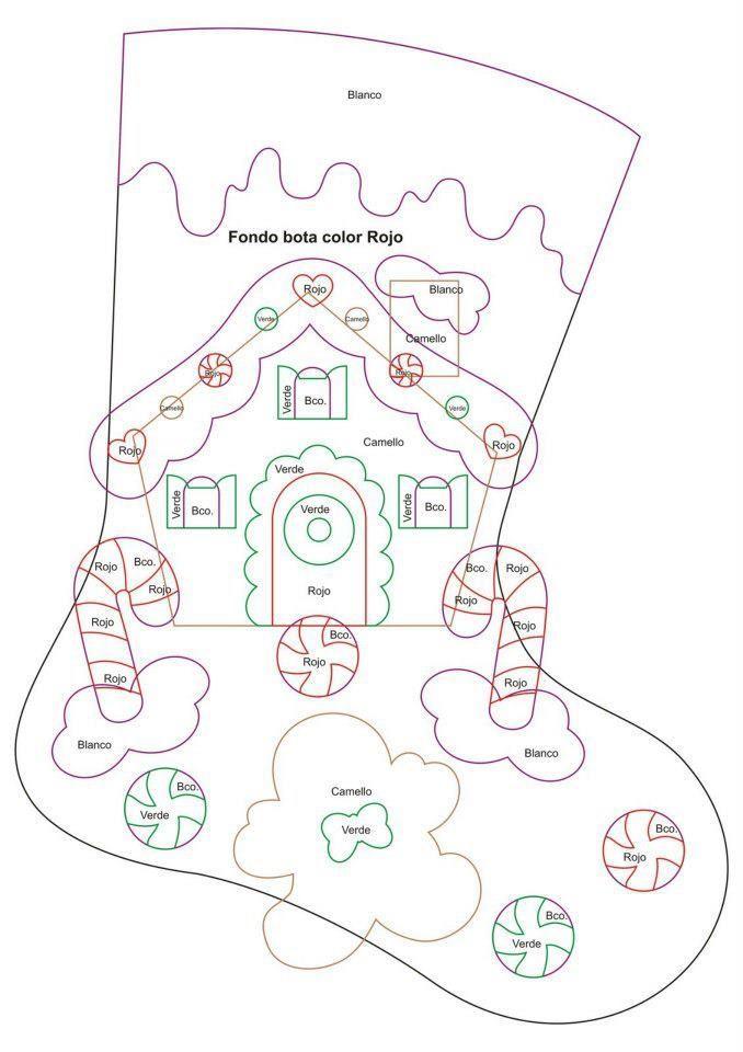 Cartamodello calza befana: | Идеи для дома | Pinterest | Weihnachten