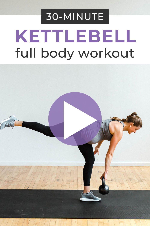 30-Minute AMRAP: Full Body Kettlebell Workout | Exercise