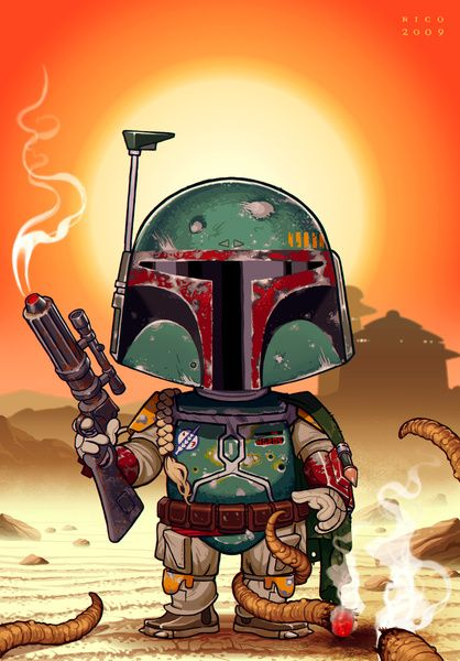 Boba Fett on Tattooine    Created by Nicolas Villeminot