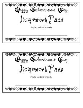 Customizable homework pass