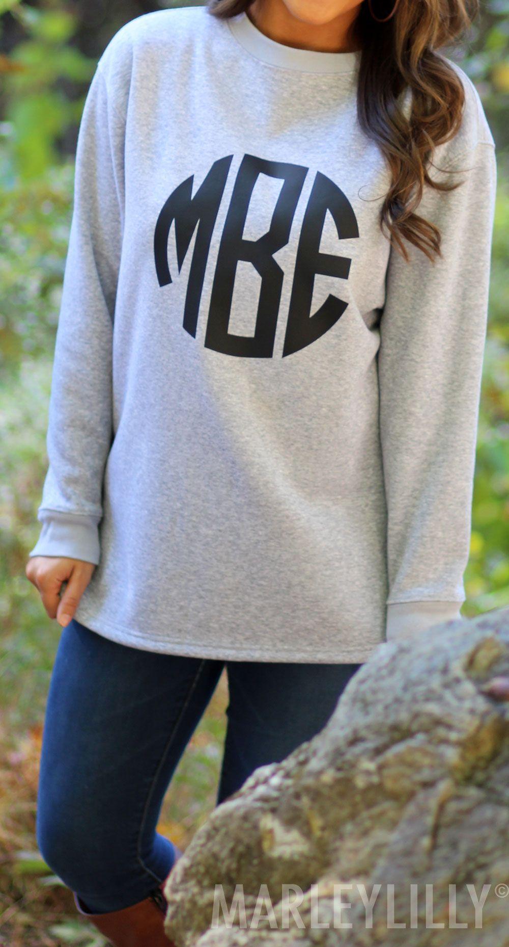 Monogrammed Crewneck Sweatshirts Now 20 Off Hurry Offer