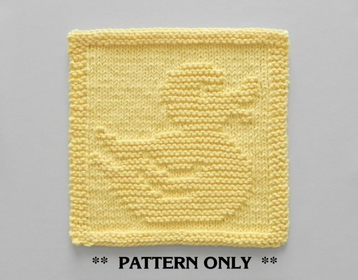 Ducky Hand Knit Baby Blanket