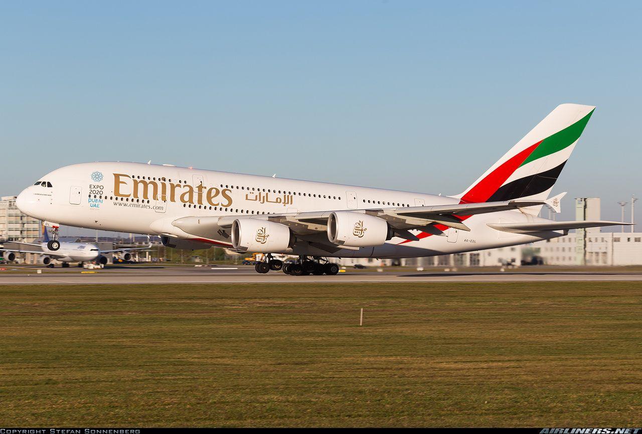 Airbus A380-861, Emirates, A6-EDL, cn 046, first flight 29.1.2010, Emirates delivered 12.8.2010. His last flight 8.4.2016, flight Zurich - Dubai. Foto: Munich, Germany, 6.12.2015.