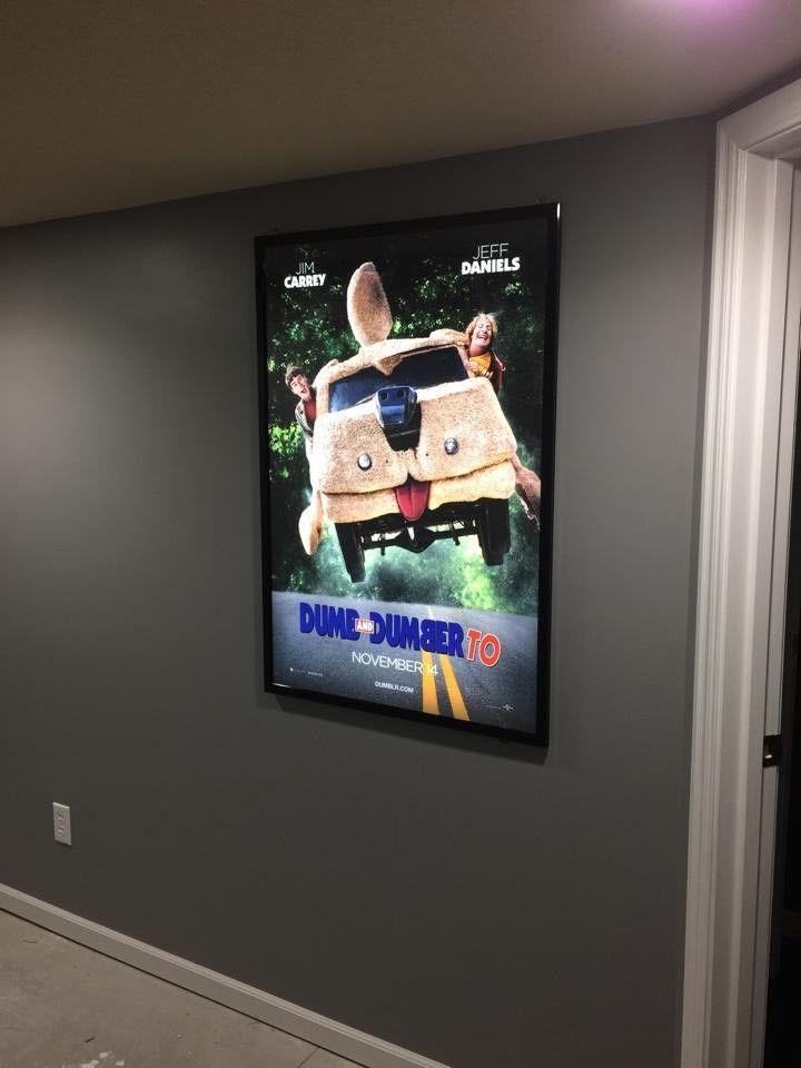 Black 27x40 Slim LED Light Box Movie Poster Frame | Crafts - Misc ...