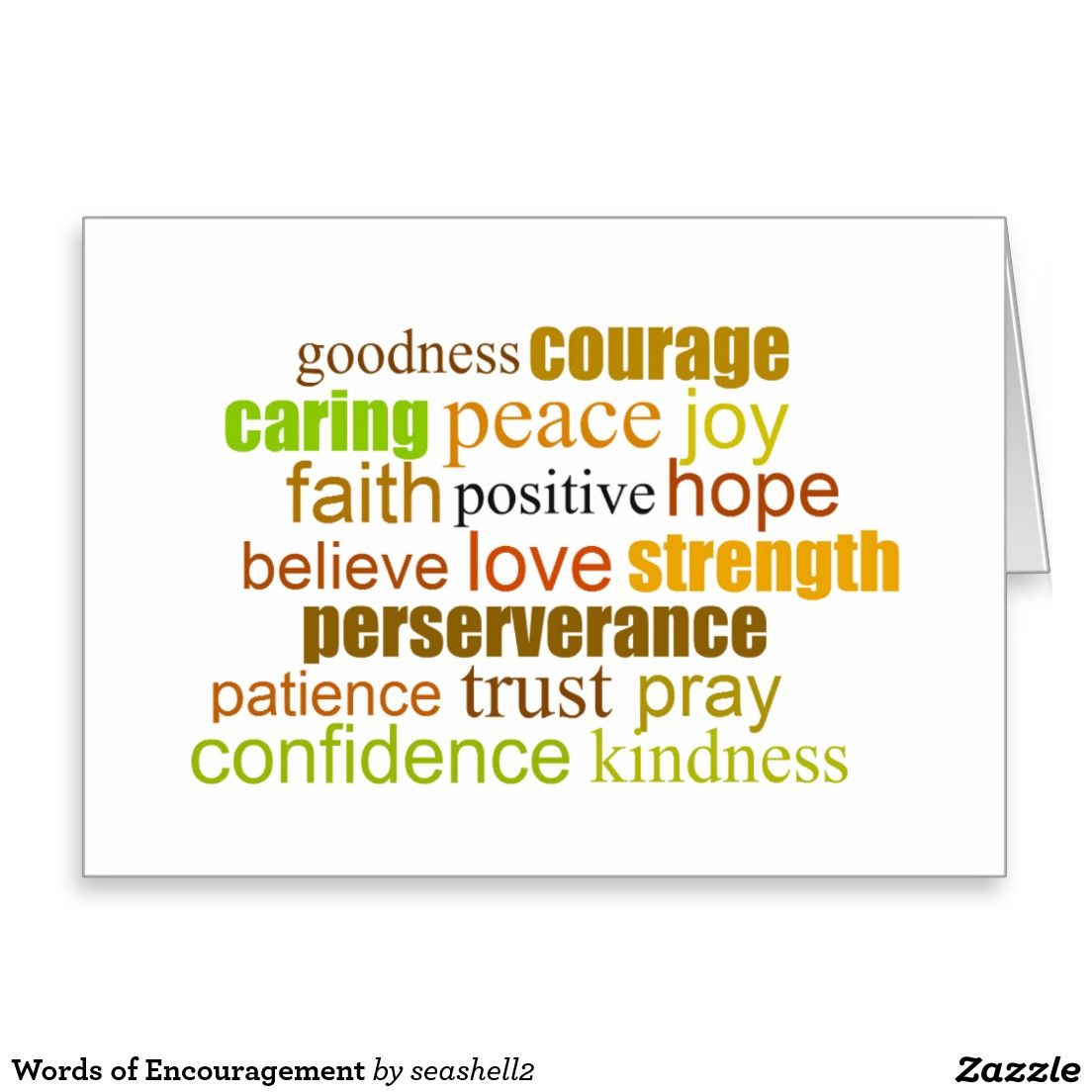 Words of encouragement greeting card wordart encouragement words of encouragement greeting card wordart encouragement positivewords kristyandbryce Image collections
