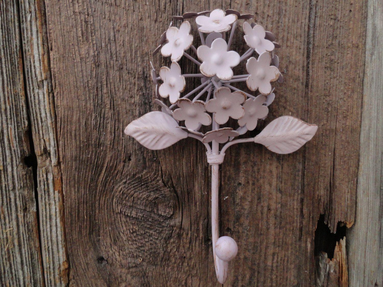 flower wall hook lilac hydrangea flower wall hook cast iron key hook towel hook patio decor