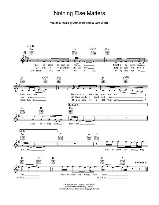Pin By Jamie Saylor On Musicians With Images Sheet Music Metallica Sheet Music Notes