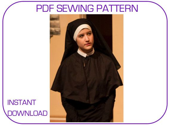 PDF sewing pattern for Postulant veil and capelet | Halloween ...