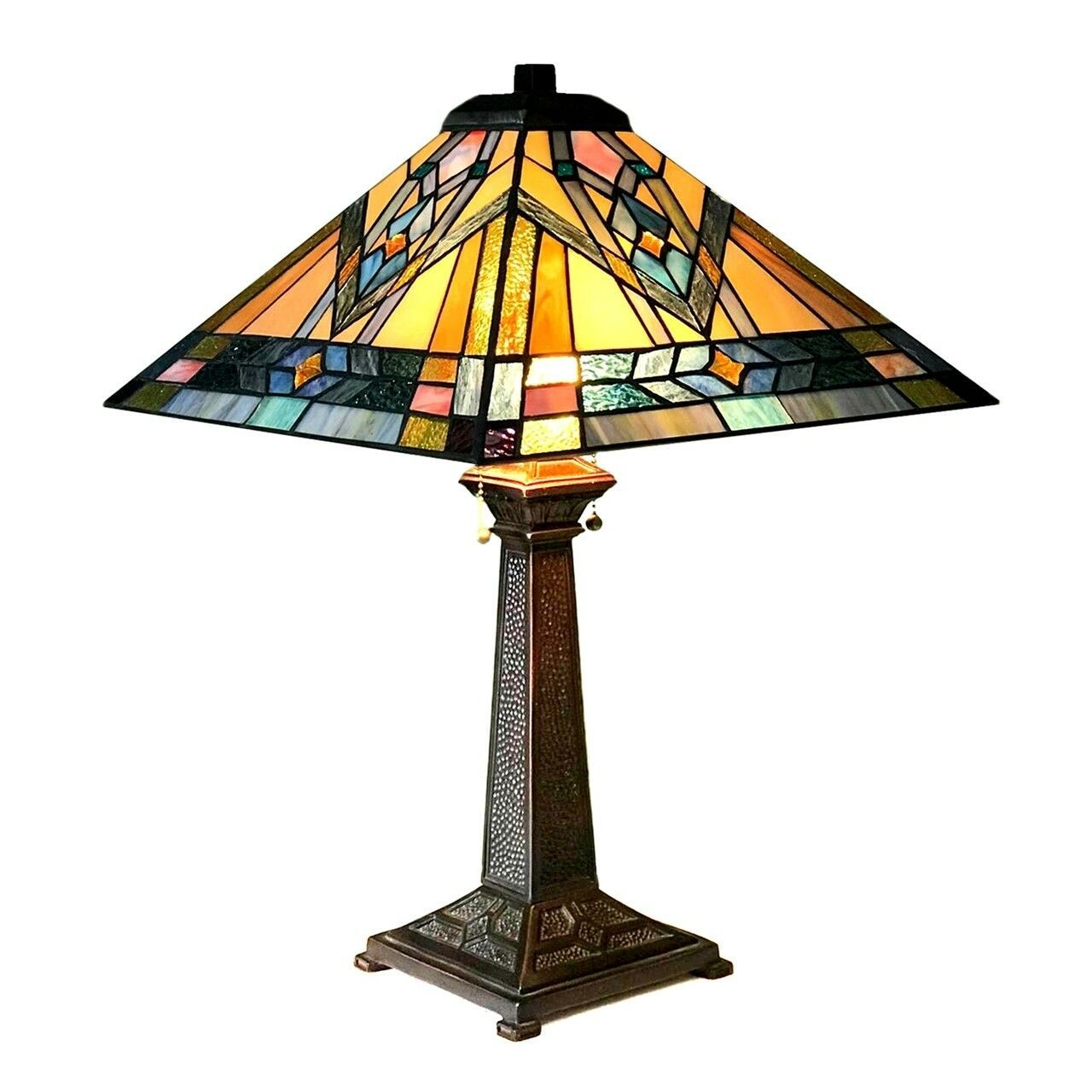 Details About Stained Glass Table Lamp Tiffany Style Mission