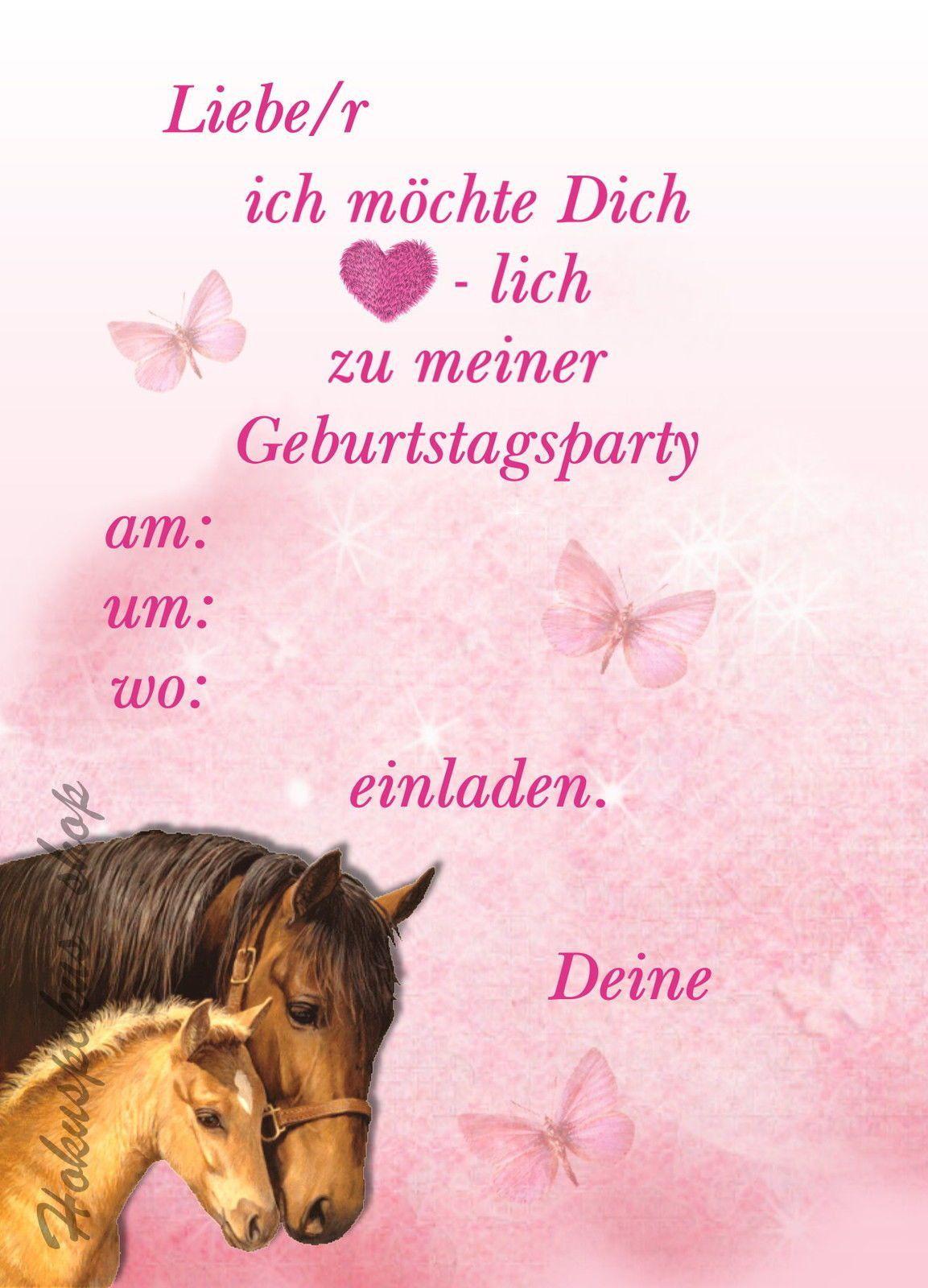 einladungskarten kindergeburtstag pferd gratis elega
