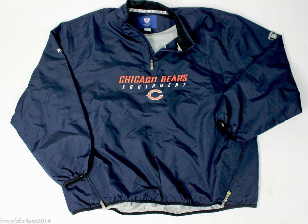 wholesale dealer fa63e 1d02f Chicago Bears 2XL Reebok Men's On Field Pullover Rain Jacket ...