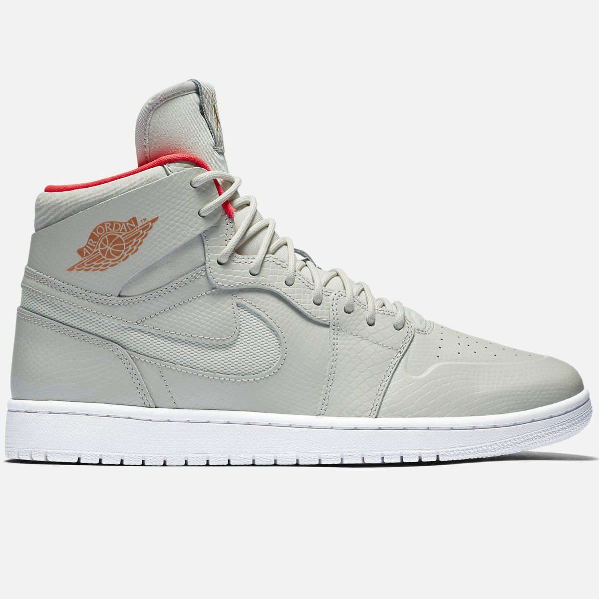 51baaf9b6ec Jordan Air Jordan 1 Retro High Nouveau (Pure Platinum Pure Platinum-Bright  Crimson-White)