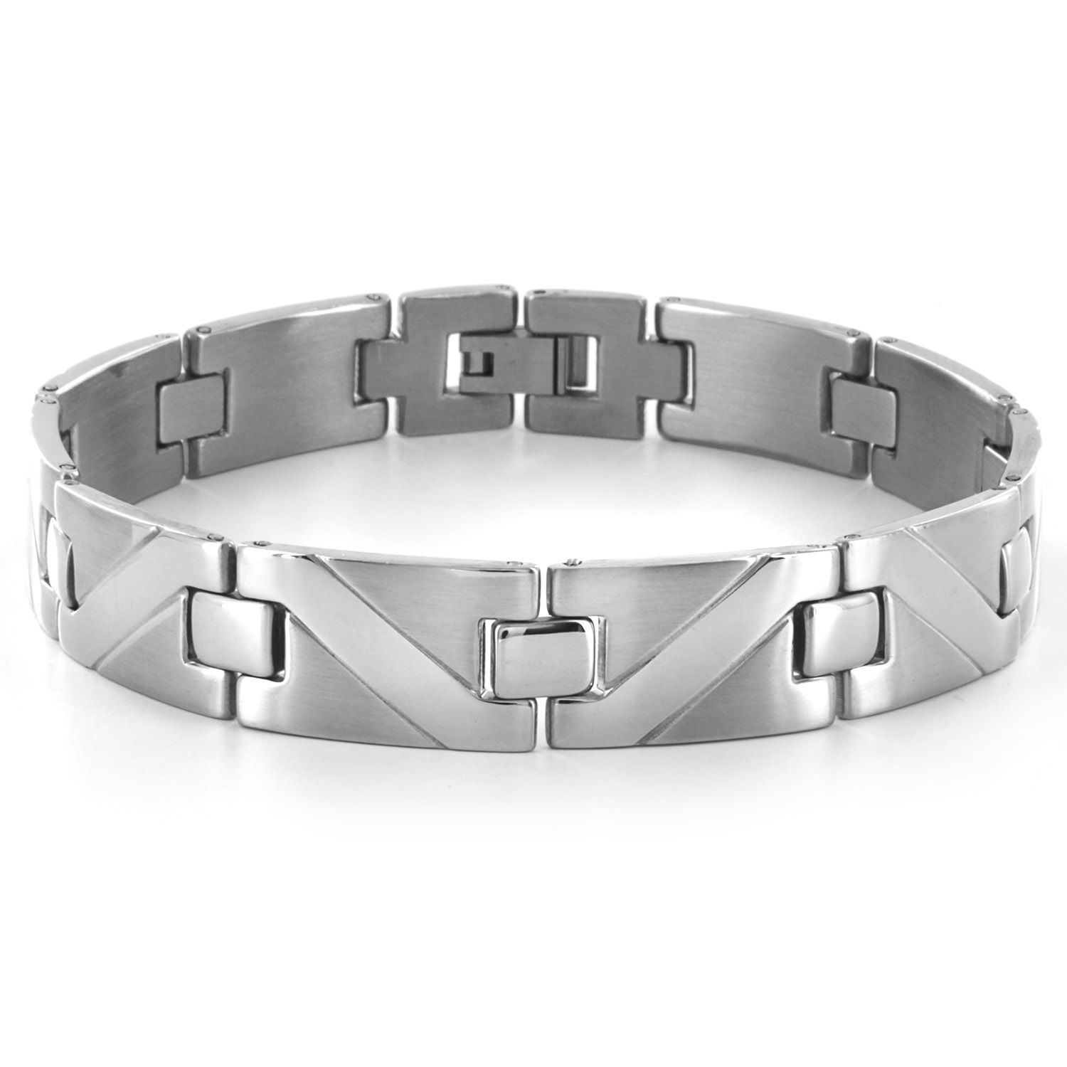 West coast jewelry crucible stainless steel wave pattern design link