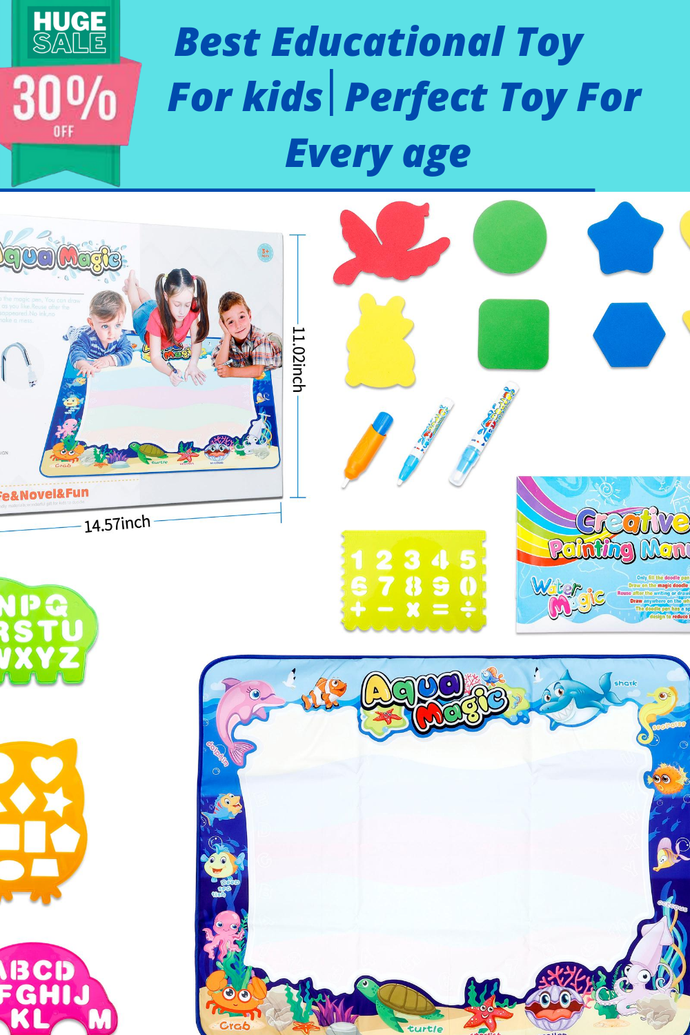 Magic Water Drawing Mat Colorful Educational Toy And Ideal Gift For Toddlers Boys Girls In 2020 Best Educational Toys Toddler Gifts Educational Toys