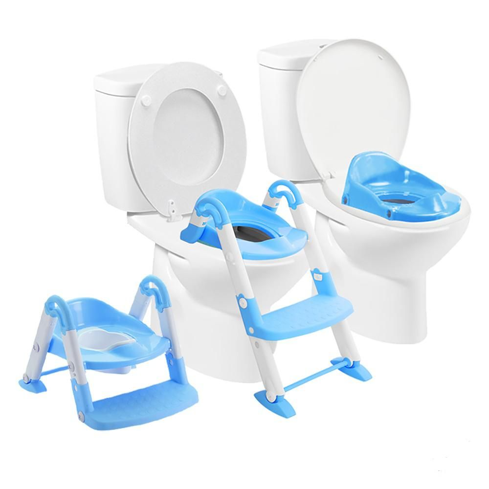 Babyloo Bambino Booster 3 In 1 Toilet Stool In Blue Pink Potty