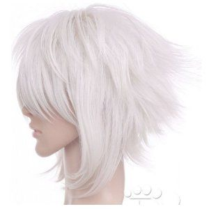 short silver white anime cosplay