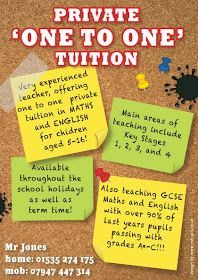 sample of leaflet for tuitions ads  Google Search  ads examples  Tutoring flyer English