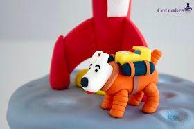 Catcakes - Repostería Creativa: Trabajos realizados • Tintin and snowy destination moon birthday cake • Tintin cake • Tintin gateaux