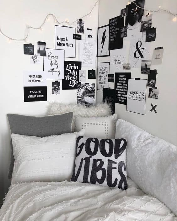 39 Cute Dorm Rooms We Re Obsessing Over Right Now By Sophia Lee White Room Decor Cute Dorm Rooms White Dorm Room