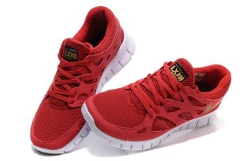 newest 4efa2 308fd Nike Free 2 Red Gold Mens Running Shoe  fashion  shoes