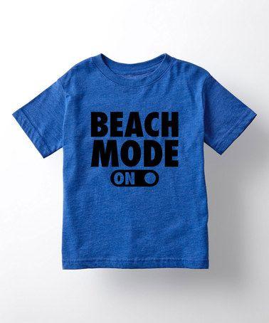 Royal Blue 'Beach Mode On' Tee - Toddler & Kids #zulily #zulilyfinds