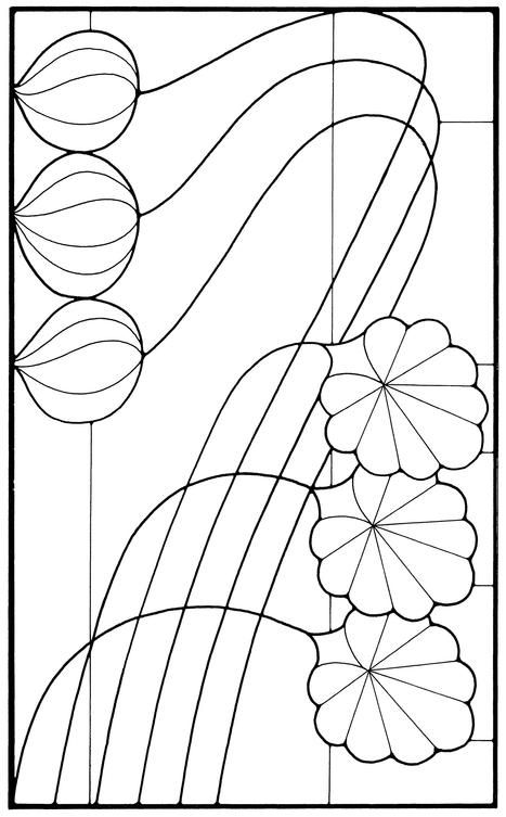 Art Nouveau Stained Glass Pattern Book | Vidrio | Pinterest ...