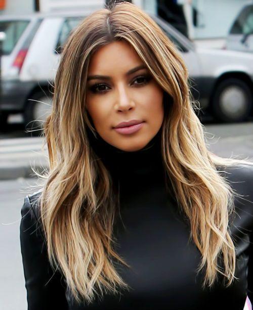 Kim kardashian Long Layered Hairstyles | Rainy weather, Hair style ...