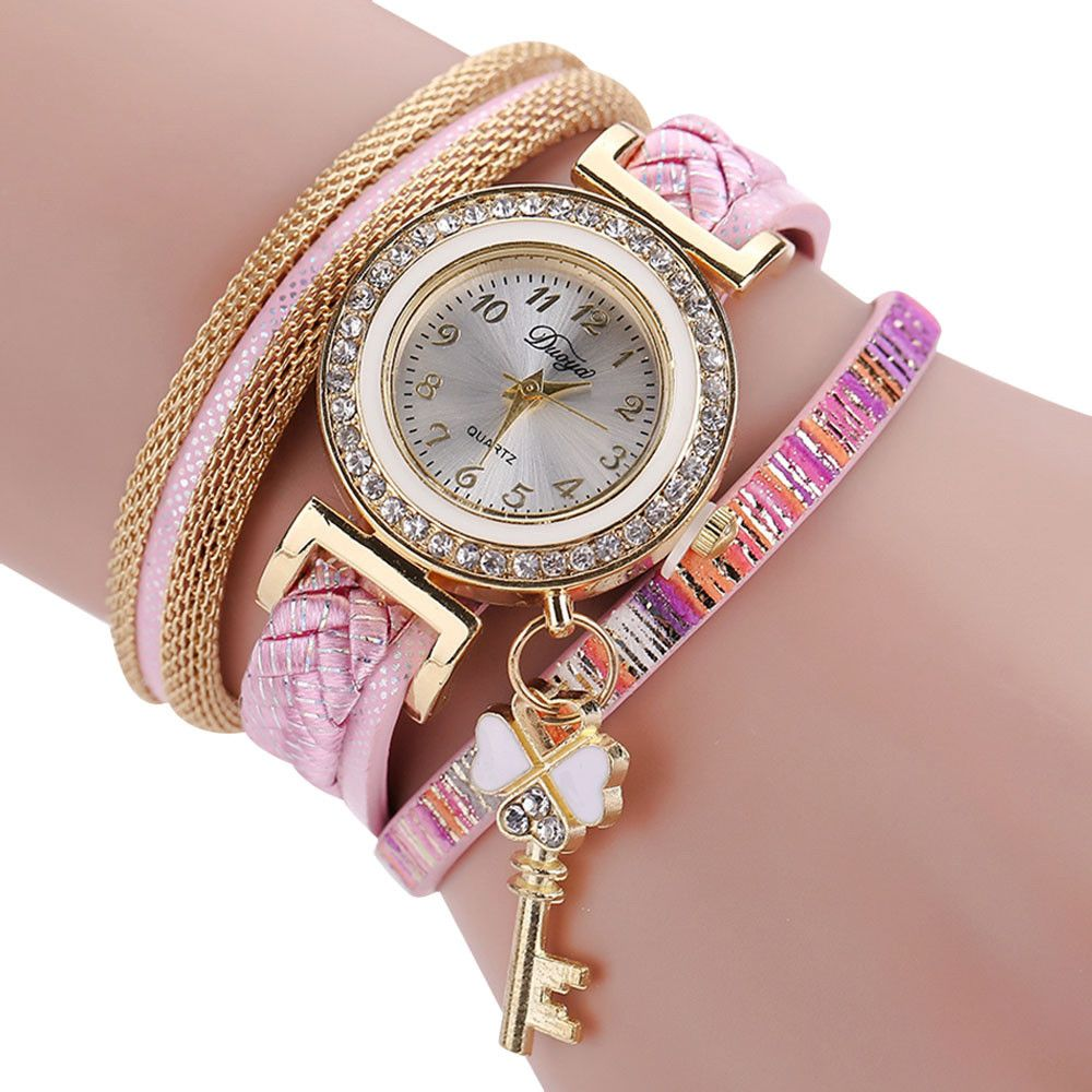 f86096c07a4 Duoya Ladies Watch Reloj mujer Gold Sleek Stylish And Chic Knit Bracelet  Watch Ladies clothing female