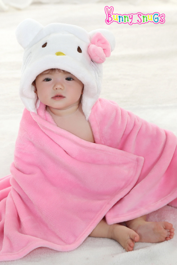 New Arrival Pink Lamb Hooded Toddler Wrap Perfect For After Bath