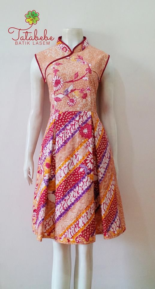 Tatabebe Batik Lasem Ml Pinterest Batik Dress