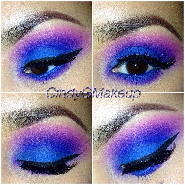 Tried to recreate one of @theevanitydiarys looks! Lol  Love him  #me #makeup #theevanitydiary #vanitymafia #eotd #vegas_nay #eyemakeup #colorful #lashes #colorfulmakeup #inspired #makeupmobb #iloveigmuas #makeupmafia #chrisspy #dressyourface #palafoxxiamakeup #mayamiamakeup #blue - @cindygmakeup- #webstagram