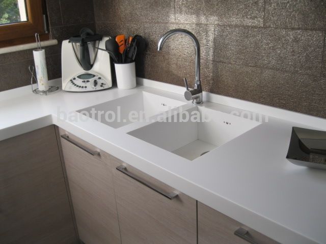 2014 New Artificial Marble Molded Sink Countertop Photo Detailed