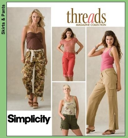 Simplicity Pants Pattern 3880 - Misses' Cargo Pants and Shorts in ...
