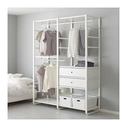 Kleiderschrank Elemente elvarli 2 section shelving unit white elemente ikea und