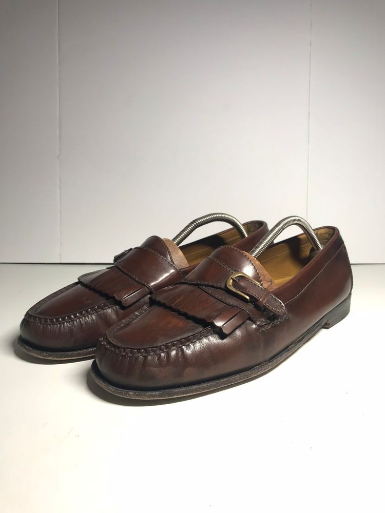 f9227a2acc3 Cole Haan Mens Buckle Loafers Size 10.5 D Brown Fringed Kiltie Pinch Buckle   fashion  clothing  shoes  accessories  mensshoes  dressshoes (ebay link)
