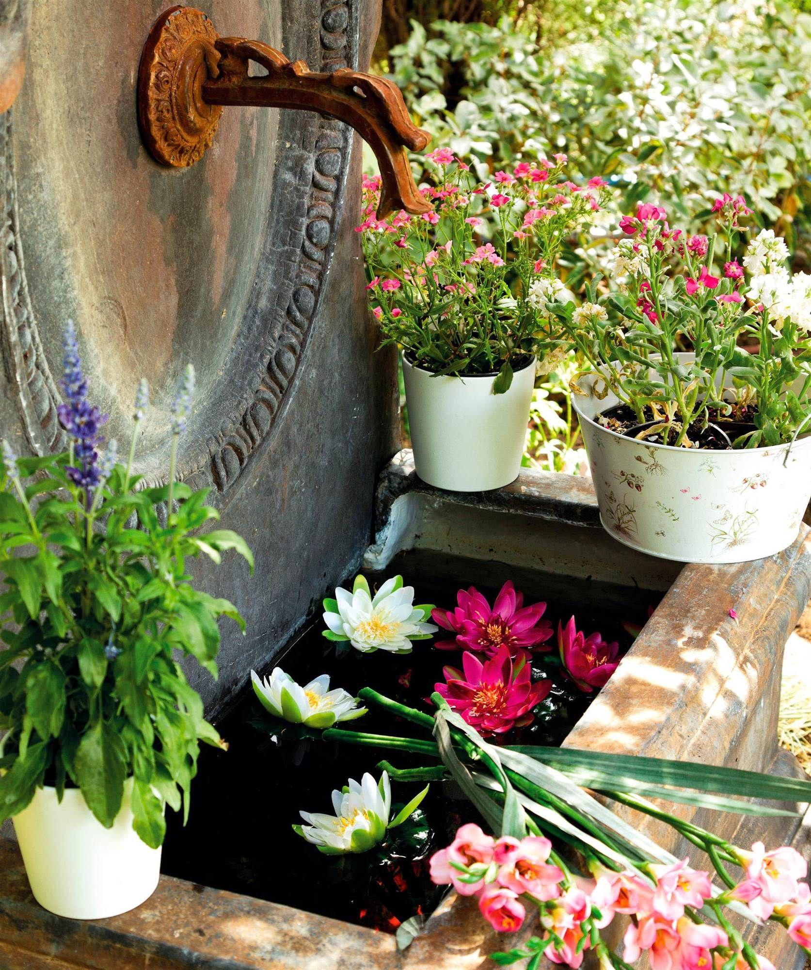 las plantas decoracion para jardines fuentes de piedra