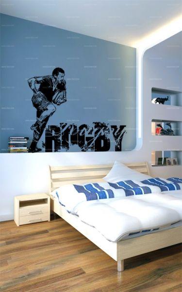deco chambre garcon rugby. Black Bedroom Furniture Sets. Home Design Ideas