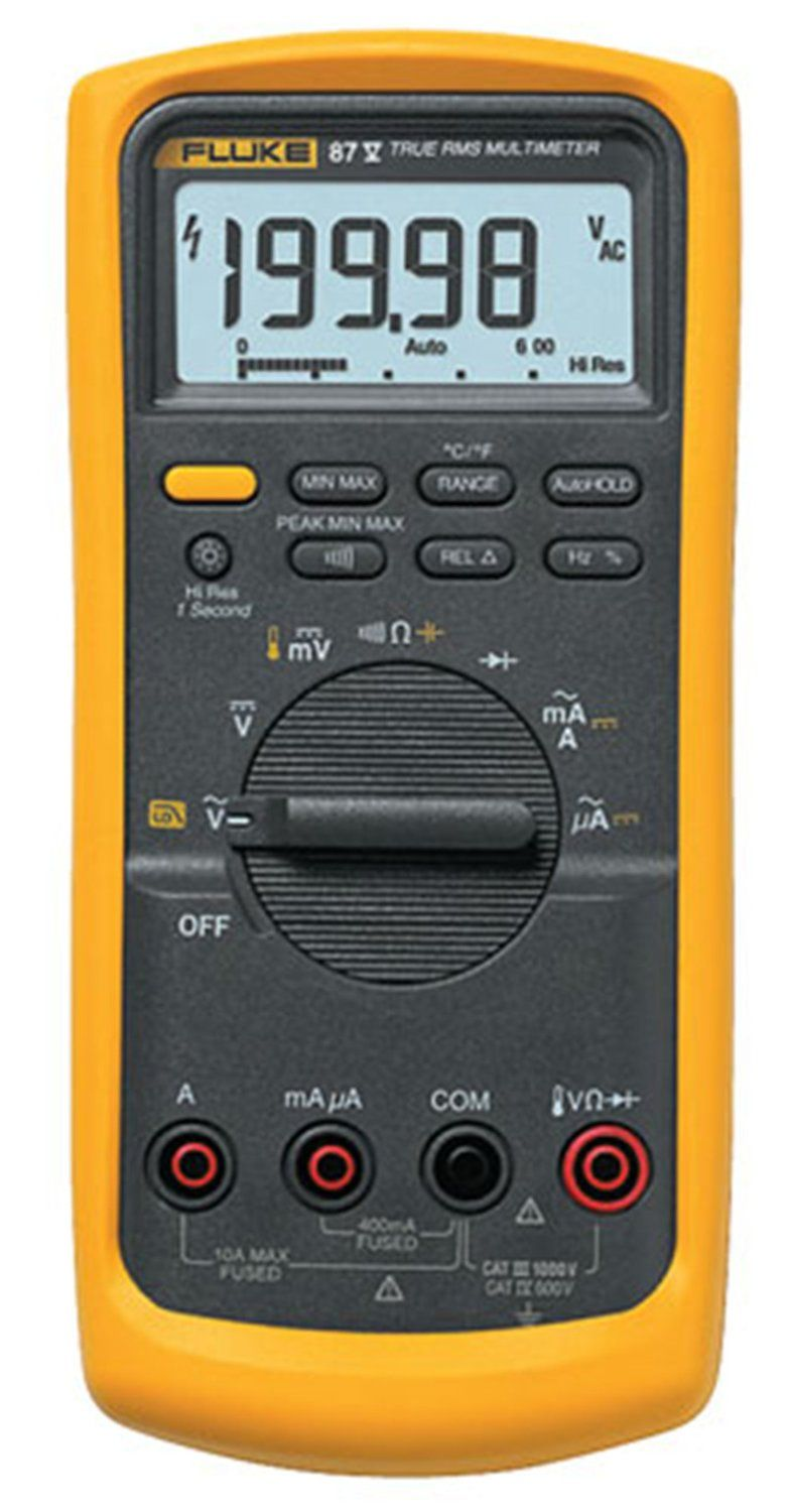 The Fluke 87 V Digital Multimeter Is A Versatile True Rms Meter Testers Electrical Tools Meters Scanners Circuit Continuity Thats Perfect For Professional Or Around House Use This Offers Auto And Manual