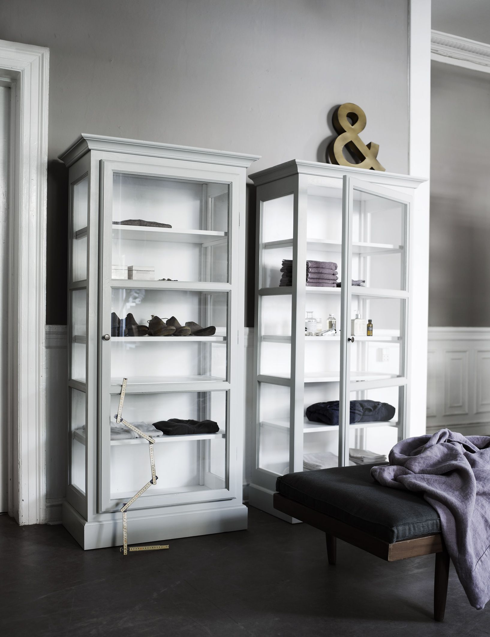 Danish Glass Cabinets By Lindebjerg Design