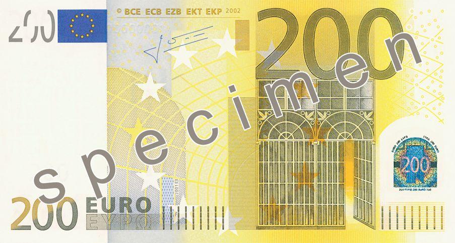 Ecb Banknotes Ontwerp Geld Goud